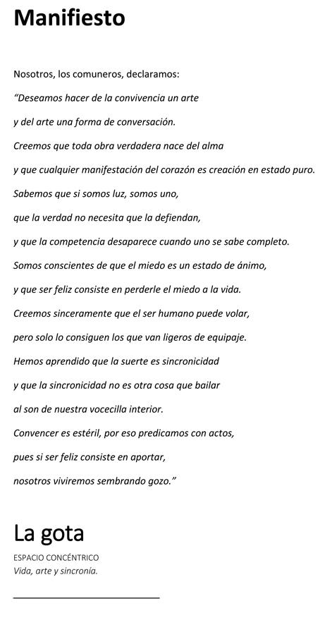Manifiesto --- LaGota